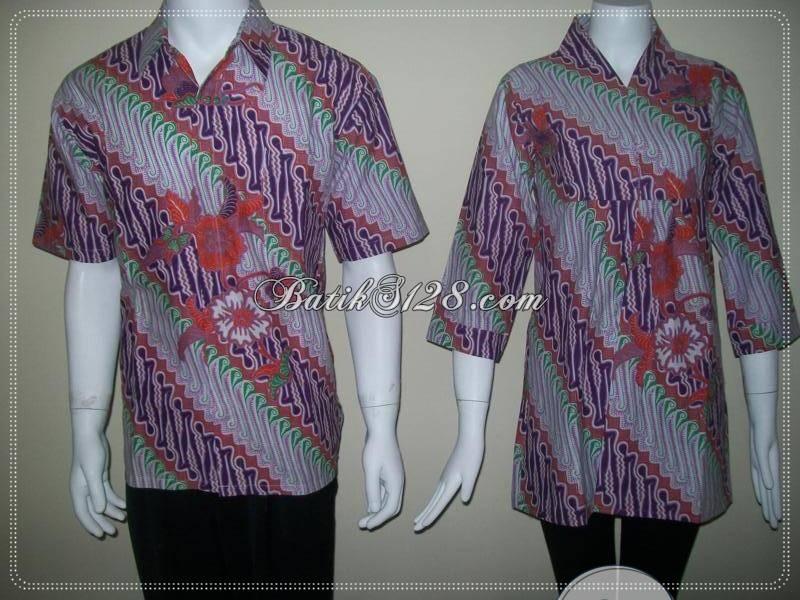 Baju Batik Sarimbit Couple Modern Murah, Batik Solo [SR027]