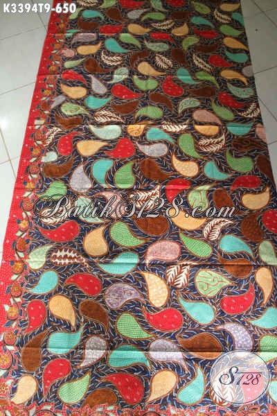 Kain Batik Tulis Premium Bahan Aneka Busana Elegan Dn Mewah Wanita Pria Asli Buatan Solo, Hadir Dengan Motif Bagus Dan Warna Trendy [K3394T-240x110cm]