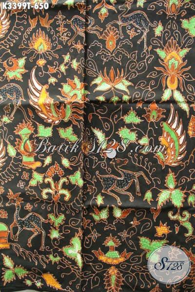Batik Kain Elegan Warna Berkelas Motif Bagus Proses Tulis, Koleksi Kain Batik Premium Untuk Pakaian Kerja Wanita Pria Tampil Lebih Percaya Diri [K3399T-240x110cm]