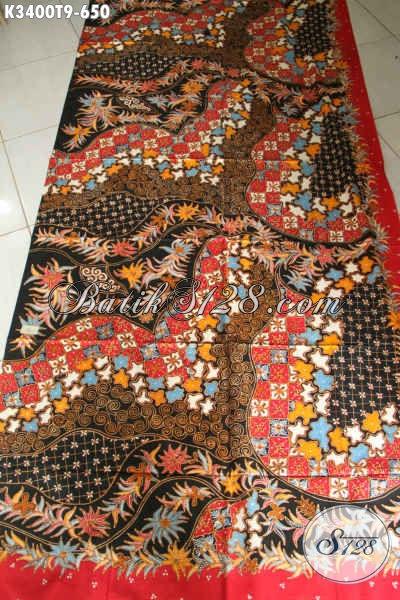 Beli Kain Batik Online Terlengkap, Sedia Batik Tulis Premium Motif Mewah Bahan Aneka Busana Wanita Pria Yang Menunjang Penampilan Lebih Sempurna Dan Percaya Diri [K3400T-240x110cm]