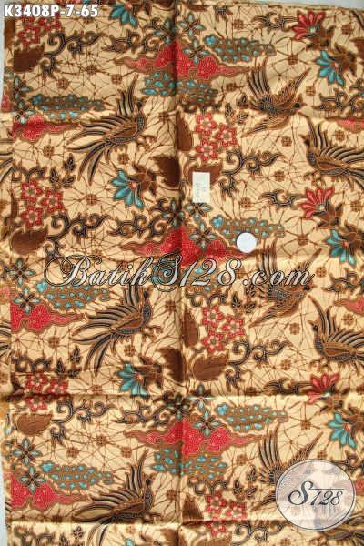 Jual Online Kain Batik Elegan Motif Mewah Khas Jawa Tengah, Batik Kain Nan Istimewa Kwalitas Halus Proses Printing, Cocok Banget Untuk Seragam Kerja [K3408P-200x110cm]