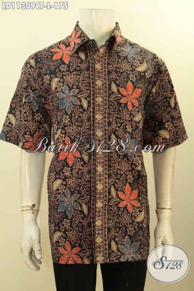 Jual Kemeja Batik Solo Keren Warna Elegan Motif Trendy Untuk Acara Santai Dan Resmi, Busana Batik Modis Kwalitas Istimewa Model Lengan Pendek Hanya 175K [LD11309CT-L]