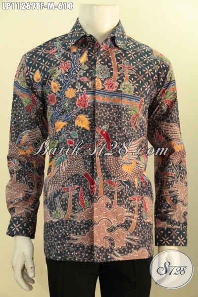 Kemeja Batik Lengan Panjang Premium Full Furing, Baju Batik Mewah Proses Tulis Motif Terkini Desain Berkelas Khas Pejabat, Tampil Berwibawa Dan Percaya Diri [LP11269TF-M]