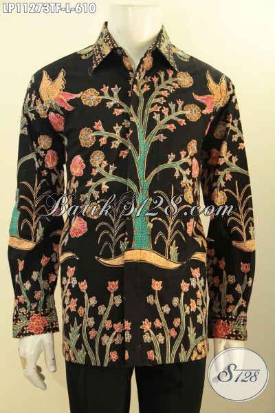 Produk Baju Batik Cowok Lengan Panjang Mewah Motif Bagus Dan Unik Proses Full Tulis, Busana Batik Elegan Pakai Furing, Tampil Gagah Bak Pajabat [LP11273TF-L]