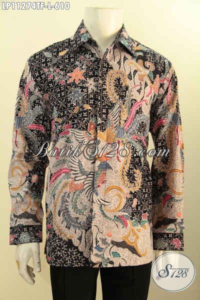 Baju Batik Pria Eksekutif Lengan Panjang Full Furing, Pakaian Batik Tulis Asli Motif Mewah Bahan Adem Nyaman Di Pakai , Cocok Banget Untuk Acara Formal [LP11274TF-L]