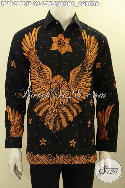 Sedia Kemeja Batik Modern Motif Burung Garuda, Kemeja Batik Modern Desain Keren Untuk Pria Muda Dan Dewasa Tampil Gayaa, Kemeja Lengan Panjang Proses Printing Cabut Pakai Furing [LP11285BTF-L]