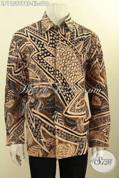 Jual Kemeja Batik Solo Jawa Tengah Lengan Panjang Full Furing, Busana Batik Motif Bagus Dan Mewah Proses Printing, Menunjang Penampilan Lebih Istimewa Serta Berkelas [LP11297PBF-XL]