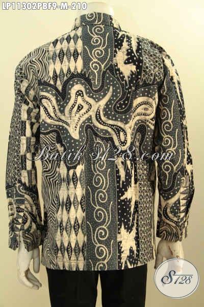 Kemeja Batik Pria Muda Desain Elegan Motif Mewah, Baju Batik Lengan Panjang Istimewa Dengan Lapisan Furing, Cocok Banget Untuk Rapat Dan Acara Kondangan [LP11302PBF-M]
