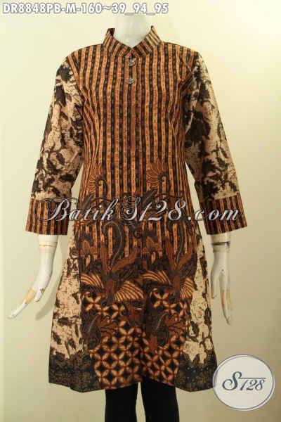 Koleksi Busana Batik Wanita Terkini, Dress Batik Elegan ...