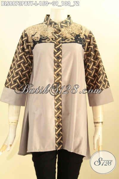 Baju Batik Wanita Atasan Model Terkini Blouse Batik Modern Dengan