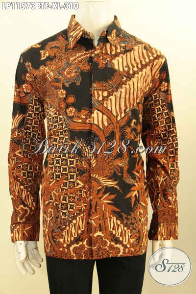 Batik Hem Kerja Nan Elegan, Busana Batik Kondangan Nan Berkelas, Kemeja Lengan Panjang Batik Kombinasi Tulis Motif Klasik Full Furing Buatan Solo Bikin Penampilan Gagah Berwibawa