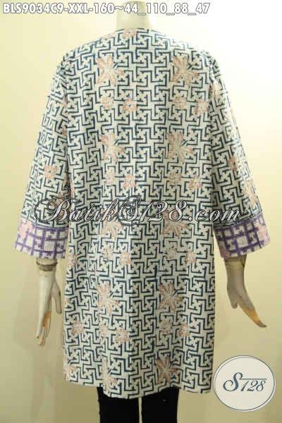 Baju Batik Kombinasi Untuk Wanita Model Terbaru Lengan ...