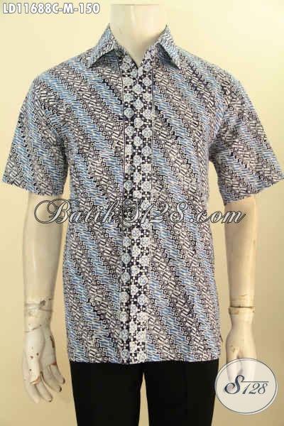 Model Baju Batik Pria Terbaru Pakaian Batik Lengan Pendek Motif