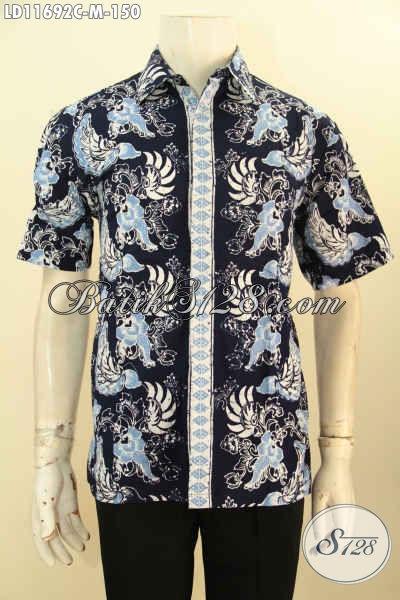 Baju Batik Lengan Pendek Pria Yang Modis Untuk Kerja Ataupun Jalan-Jalan, Hem Batik Solo Asli Model Lengan Pendek Desain Trendy, Merubah Penampilan Lebih Ganteng Dan Begaya