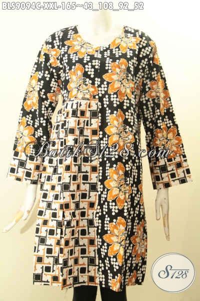 Blouse Batik Solo Modern Lengan Panjang Ukuran Jumbo ...