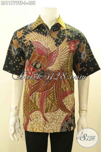 Produk Baju Batik Pria Terkini, Hem Batik Solo Trendy Dengan Motif Elegan Proses Tulis, Busana Batik Istimewa Lengan Pendek Pakai Furing Hanya 400 Ribuan [LD11779TF-L]