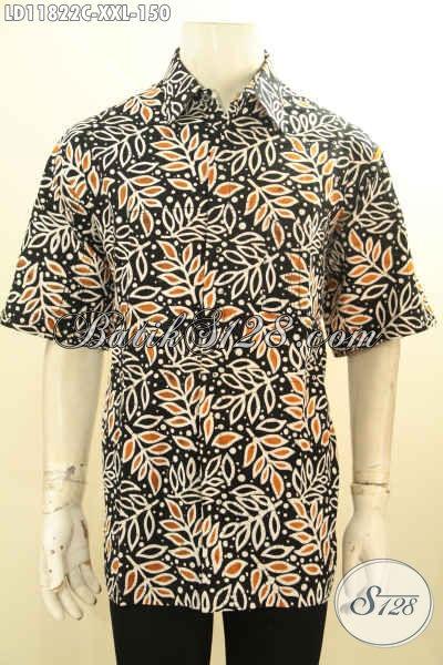 Kemeja Batik Trendy Lengan Pendek Khas Jawa Tengah, Busana Batik Casual Pria Untuk Santai Dan Kerja, Bahan Halus Adem Proses Cap Hanya 100 Ribuan Saja [LD11822C-XXL]