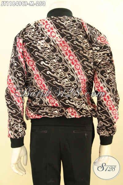 Jual Jaket Bomber Batik Solo Motif Klasik Dengan Paduan Warna Modern Tampil Lebih Keren, Bahan Halus Pakai Furing Dormeuil Harga 200 Ribuan Saja [JT11849C-M]