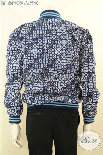 Jaket Bomber Kesukaan Kaum Milenial, Hadir Dengan Bahan Batik Motif Elegan Di Lengkapi Furing Dormeuil, Tampil Makin Berkelas [JT11850C-M]