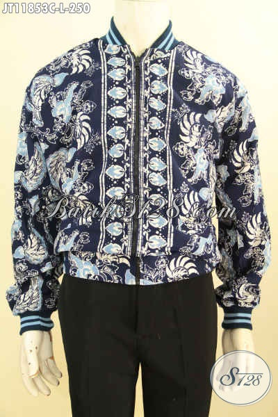 Jaket Batik Bomber Kwalitas Bagus Di Lengkapi Furing Dormeuil Nan Berkelas, Motif Terbaru Proses Cap, Tampil Gaya Dan Kekinian [JT11853C-L]