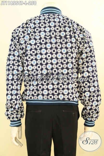 Jaket Batik Modis Motif Terbaru, Jaket Bomber Batik Solo Nan Berkelas Pakai Furing Dormeuil Menunjang Penampilan Makin Berkelas [JT11855C-L]