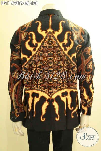 Kemeja Batik Elegan Tangan Panjang Halus Motif Proses Printing, Pakaian Batik Solo Jawa Tengah Yang Bikin Pria Muda Tampil Gagah Berwibawa [LP11923P-M]