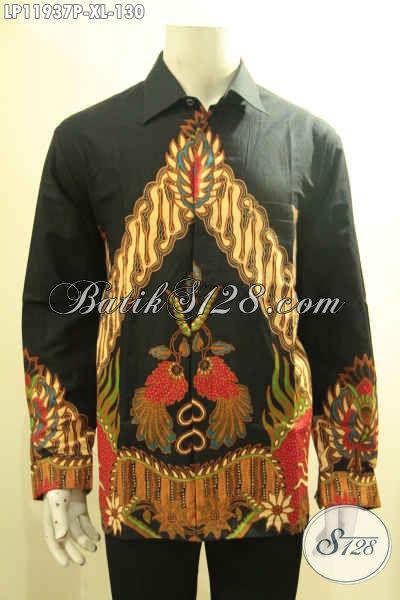 Sedia Kemeja Batik Pria Terbaru, Pakaian Batik Soo Tangan Panjang Motif Berkelas Proses Printing Harga 100 Ribuan Saja [LP11937P-XL]