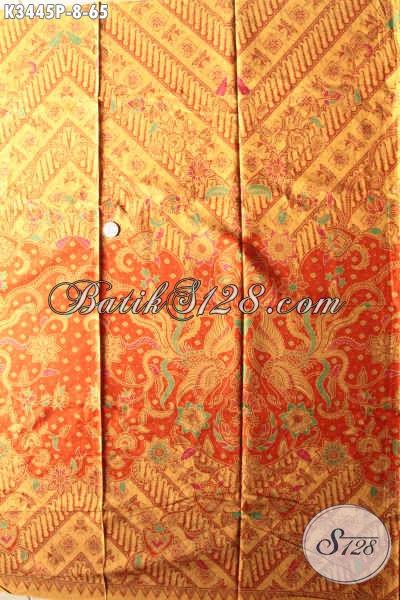 Kain Batik Bagus Murah, Kain Batik Solo Asli Motif Klasik Bahan Busana Pria Elegan Dan Berkelas, Bikin Penampilan Makin Sempurna [K3445P- 200x110cm]