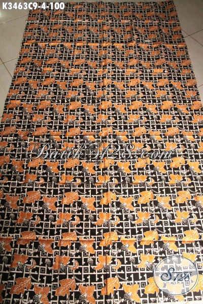 Produk Kain Batik Solo Koleksi Terkini, Batik Kain Halus Motif Modern Kwalitas Bagus Proses Cap, Cocok Untuk Pakain Casual Dan Seragam Kerja [K3463C-200x110cm]