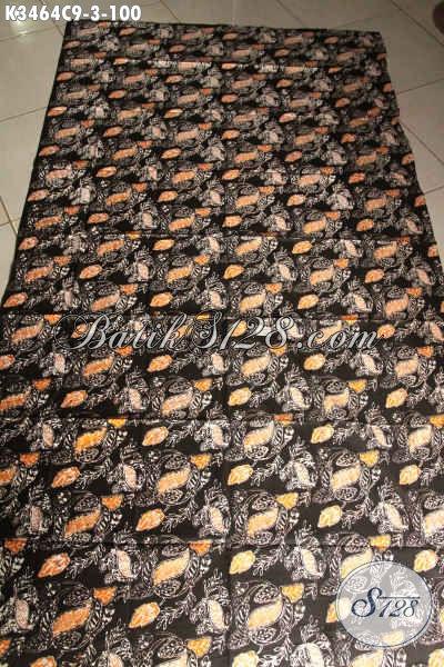 Kain Batik Solo Asli Halus Dengan Motif Trendy Berpadu Kombinasi Warna Nan Elegan, Batik Kain Istimewa jenis Cap Cocok Untuk Baju Santai Maupun Resmi [K3464C-200x110cm]