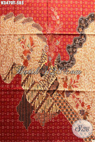 Kain Batik Mewah Halus Motif Terkini Proses Tulis Aslil, Batik Kain Pola Kemeja Lengan Panjang Premium, Pas Banget Untuk Busana Resmi Pria Nan Berkelas [K3470T-240x110cm]