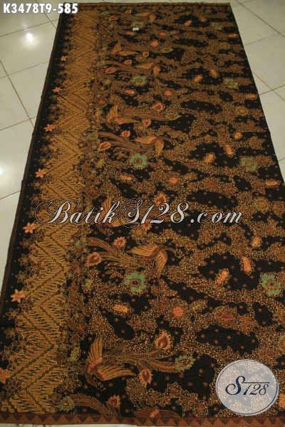 Kain Batik Motif Mewah Berkelas Proses Tulis Asli, Batik Solo Halus Bahan Busana Premium Wanita Maupun Pria, Cocok Untuk Acara Resmi Dan Istimewa [K3478T-240x110cm]