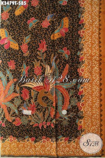 Jual Kain Batik Premium Jenis Tulis Khas solo Asli, Batik Halus Motif Mewah Bahan Pakaian Nan Berkelas Khas Pejabat Dan Eksekutif, Penampilan Lebih Sempurna Dan Istimewa [K3479T-240x110cm]