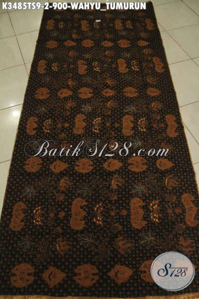 Kain Batik Solo Mewah Motif Wahyu Tumurun, Kain Batik Klasik Istimewa Jenis Tulis Soga Bahan Jarik Nan Elegan Harga Mahal [K3485T-240x110cm]