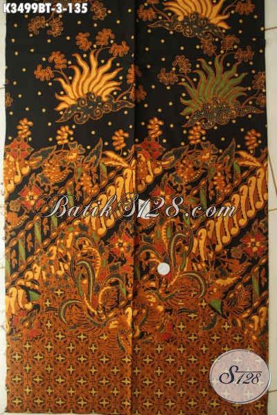 Produk Terbaru Kain Batik Solo Nan Istimewa, Batik Kain Kwalitas Bagus Jenis Kombinasi Tulis Motif Mewah Bahan Busana Resmi Nan Berkelas [K3499BT-240x110cm]