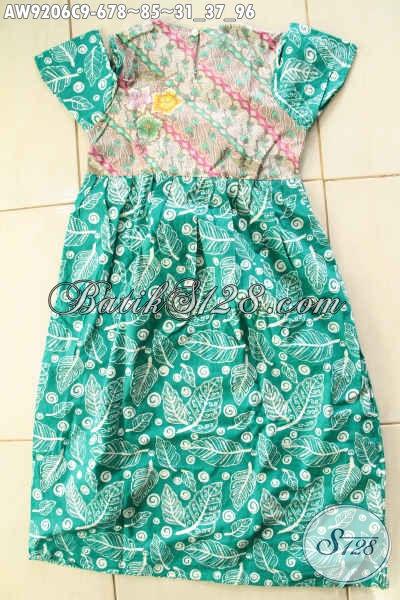 Baju Batik Anak Perempuan Model Terbaru Dengan Paduan Warna Dan Motif Keren Untuk Penampilan Cantik Dan Imut [AW9206C-Umur 6,7,8 Tahun]