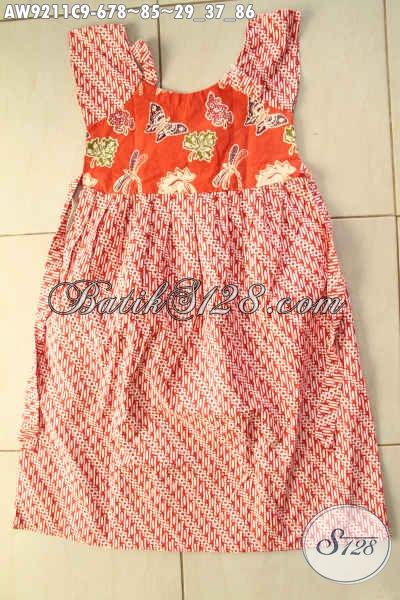 Batik Anak Motif Klasik Dengan Warna Orange Kwalitas Bagus Model Terbaru Tren Masa Kini, Bikin Anak Tampil Gaya [AW9211C-Umur 6,7,8 Tahun]