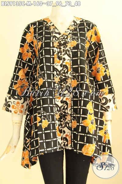 Batik Blouse Wanita Untuk Kerja Kantoran Tampil Gaya Dan Berkelas, Hadir Dengan Desain Istimewa Kwalitas Bagus Motif Kekinian Jenis Cap Hanya 100 Ribuan Saja [BLS9135C-M]