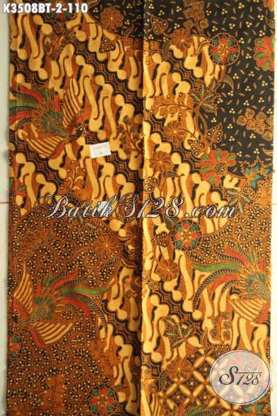 Kain Batik Solo Asli Jenis Kombinasi Tulis, Hadir Dengan Motif Elegan Klasik Nan Mewah, Batik Halus Bahan Busana Resmi Menunjang Penampilan Makin Sempurna [K3508BT-200x110cm]
