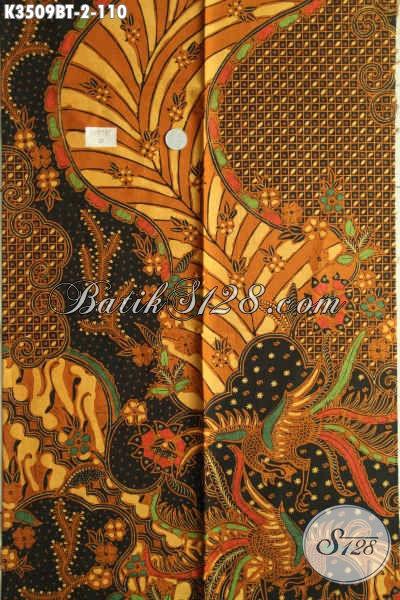 Kain Batik Solo Halus Motif Klasik Terkini, Batik Kombinasi Tulis Nan Istimewa, Cocok Untuk Busana Kerja Dan Kondangan [K3509BT-200x110cm]