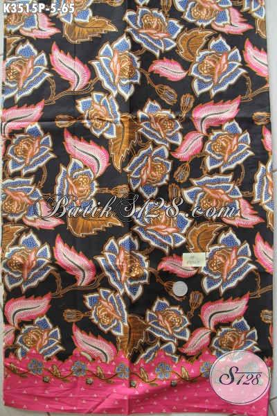 Jual Kain Batik Solo Halus Motif Kekinian Dengan Kombinasi Warna Elegan Dan Berkelas, Batik Istimewa Bahan Busana Wanita Pria Cocok Untuk Baju Kerja Dan Santai [K3515P-200x110cm]