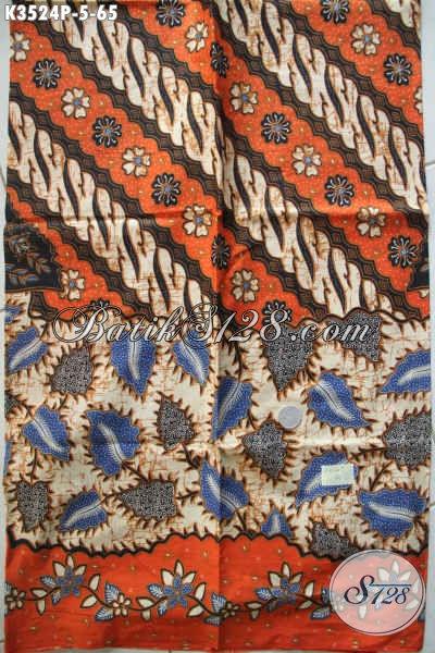 Motif Kain Batik Tren Masa Kini Cocok Untuk Bahan Busana Kerja Wanita Maupun Pria Jenis Printing Asli Buatan Solo Hanya 65K [K3524P-200x110cm]