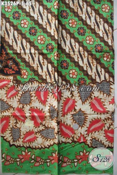 Kain Batik Bahan Baju Kerja, Batik Solo Untuk Busana Resmi Motif Elegan Klasik Proses Printing, Pilihan Terbaik Untuk Penampilan Lebih Sempurna [K3526P-200x110cm]