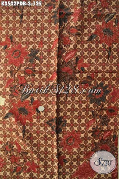 Kain Batik Modern Khas Solo Jawa Tengah, Batik Print Dolby Nan Halus Dengan Motif Terkini Berpadu Warna Elegan Klasik Bisa Untuk Pakaian Santai Maupun Resmi [K3532PDB-240x110cm]
