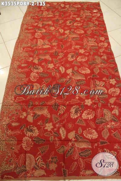Sedia Kain Batik Motif Terbaru Tren Masa Kini, Batik Solo Print Dolby Warna Elegan Kwalitas Bagus, Pas Banget Untuk Seragam Kerja Maupun Busana Kondangan [K3535PDB-240x110cm]