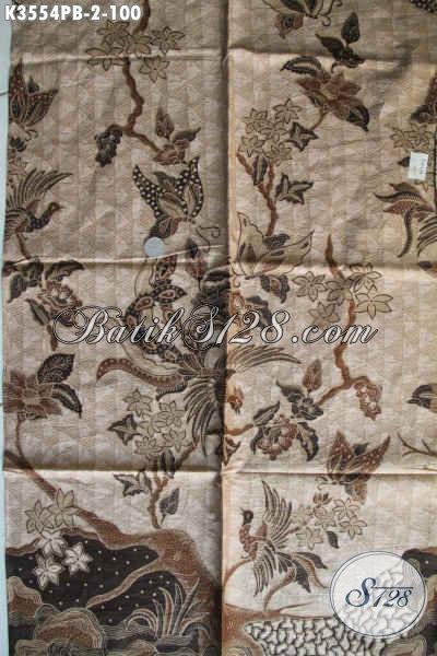 Produk Kain Batik Solo Terkini, Kain Batik Halus Motif Bagus Jenis Printing Bahan Aneka Busana Nan Berkelas, Di Jual Online 100K [K3554PB-240x110cm]