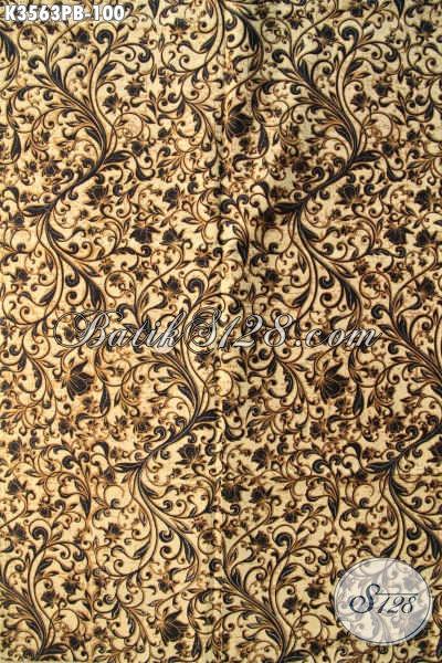 Kain Batik Motif Bagus Kwalitas Halus Jenis Printing Cabut, Batik Khas Jawa Tengah Nan Istimewa, Bahan Pakaian Trendy Dan Berkelas [K3563PB-240x110cm]