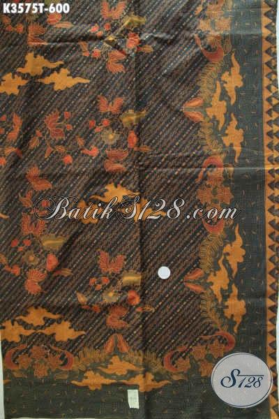Kain Batik Premium Jenis Tulis Motif Elegan Bahan Busana Mewah Berkelas Wanita Maupun Pria [K3575T-240x105cm]