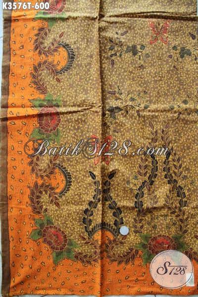 Jual Kain Batik Online Jenis Tulis Motif Mewah, Batik Halus Khas Solo Bahan Busana Formal Wanita Pria Untuk Menunjang Penampilan Yang Sempurna [K3576T-240x105cm]