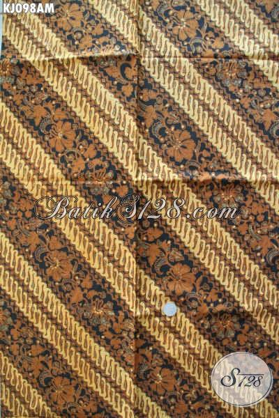 Kain Batik Klasik Khas Solo Jenis Kombinasi Tulis, Batik Halus Dan Istimewa Cocok Untuk Jarik Dan Busana Formal Lainnya [KJ098AM-240x105cm]